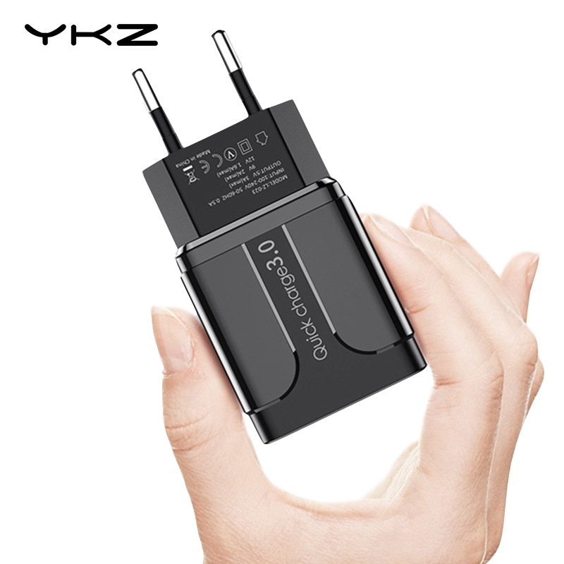 YKZ USB Charger Quick Charge QC3.0 Universal  mobile phone chargeing Wall USB Charger Adapter for iPhone Samsung HUAWEI QC 3.0-in Mobile Phone Chargers from Cellphones & Telecommunications on AliExpress