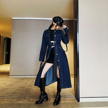 Make spot dress female in the spring and autumn period cowboy long-sleeved shirt skirt thin long years popular wind coat