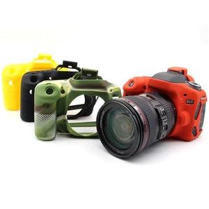 Image 5 - High Quality Silicone Camera Case Cover for Canon 6D/70D/77D/80D/650D/700D/5D3 5DS 5DR/5D Mark IV Soft Rubber Camera Case Skin