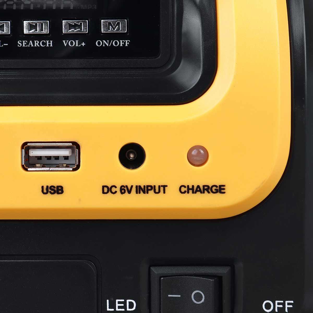 usb com alto-falante bluetooth sistema de iluminação led