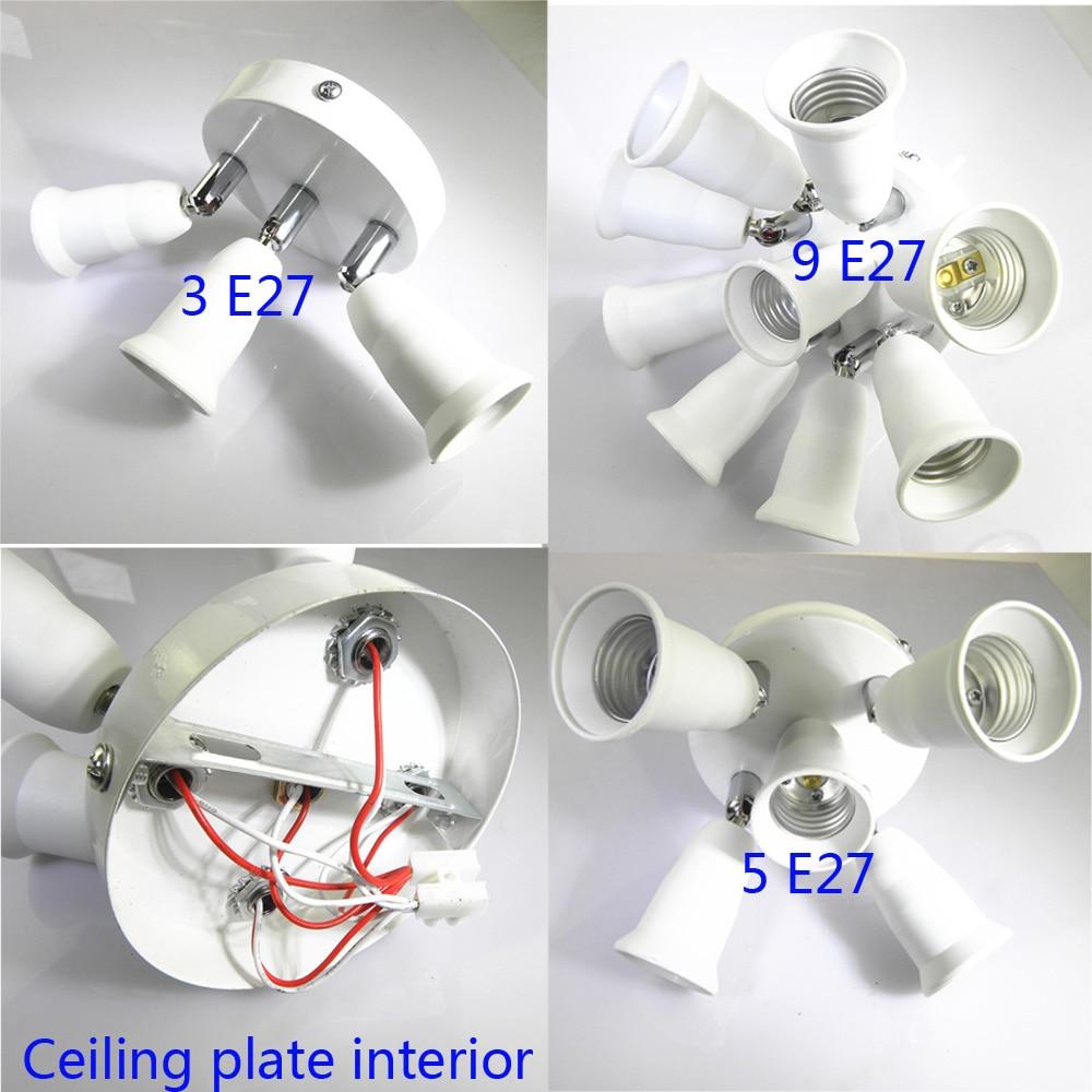 ARTOO Adjustable E27 Splitter 3/5/9 Heads Lamp Base LED Light Bulb Holder Adapter Converter Socket E27 Lamp Base Holder 90-305V