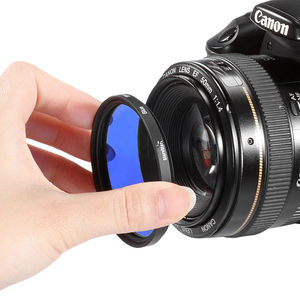 Image 2 - Filtro colorido de cor fld laranja vermelho amarelo verde azul 30 49mm 52mm 55 58mm 62mm 67mm 72mm 77mm para câmera canon nikon sony dslr