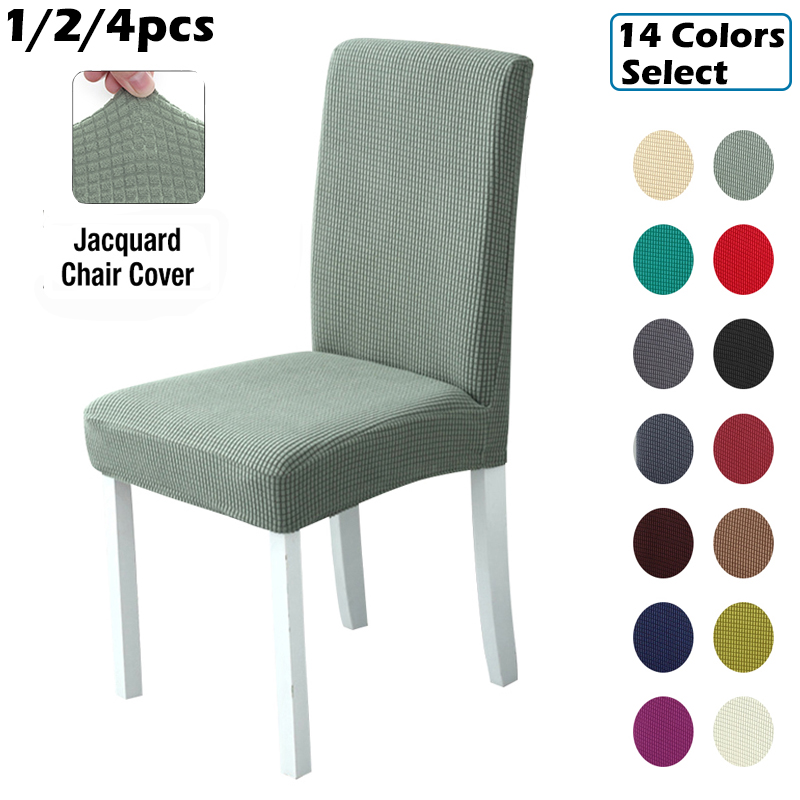 Plaid Polar Fleece Thickened Elastic Dining Chair Seat Cover Dust-proof Stool Cover Protector Chair Covers Spandex For Banquet