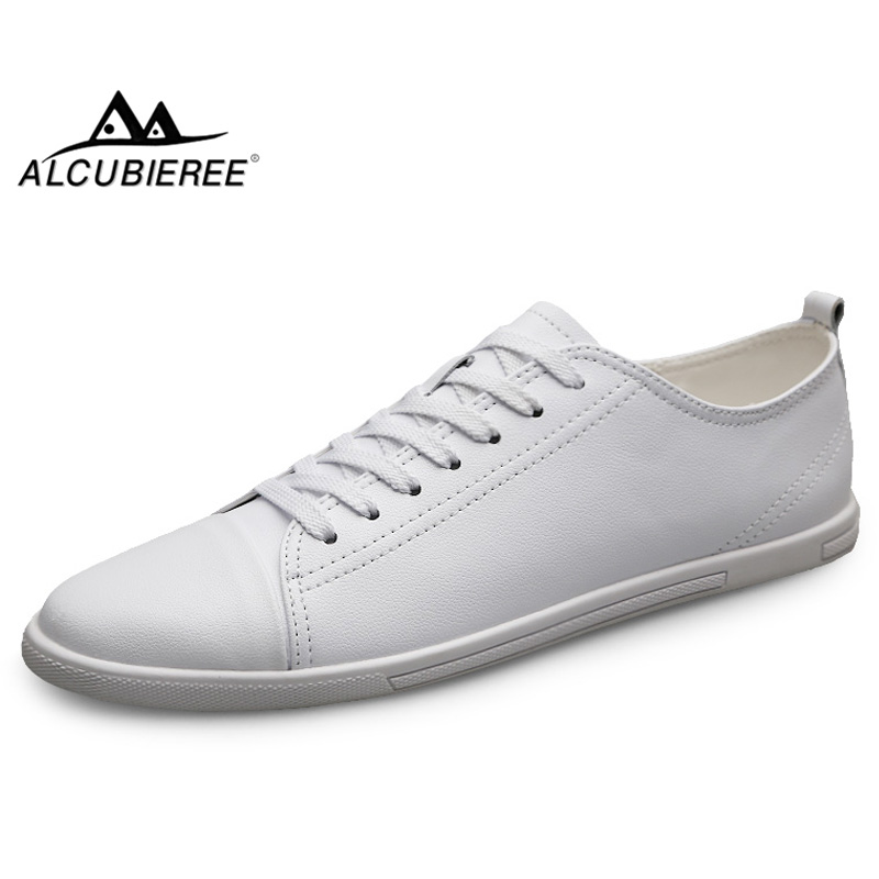 ALCUBIEREE Spring Breathable Mens Casual Shoes Lightweight Skateboarding Shoes For Male Fashion Lace-up Sneakers Flat Footwear