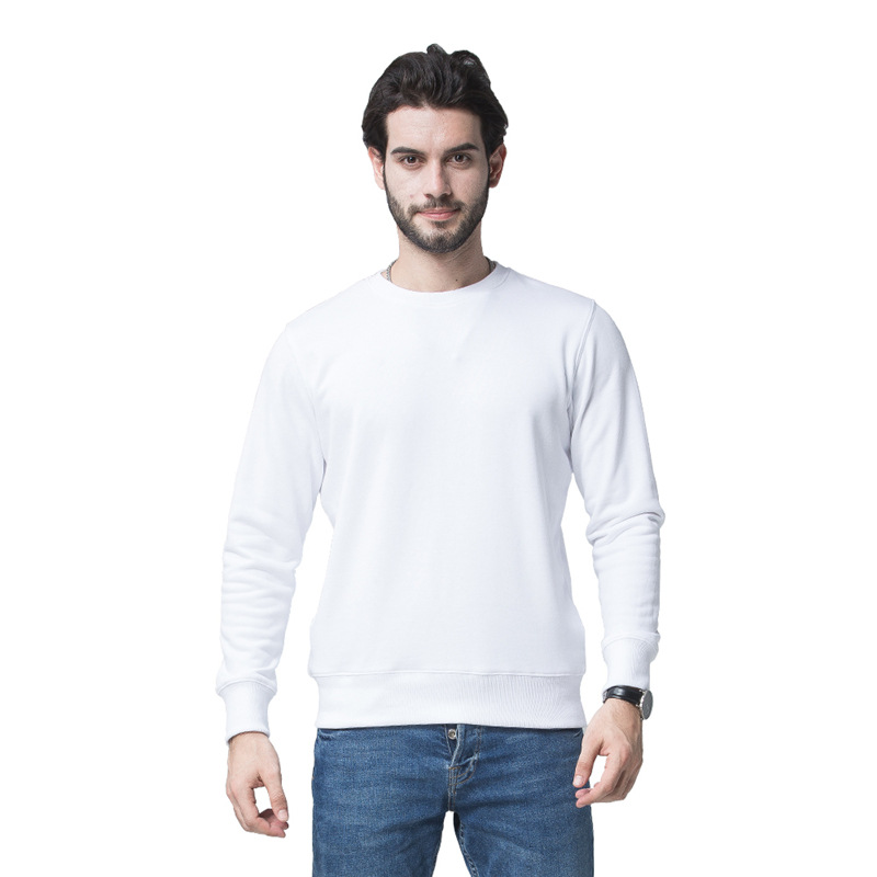 2020 New Men's Blank Solid Wool Circle Round Neck Hoodies 993