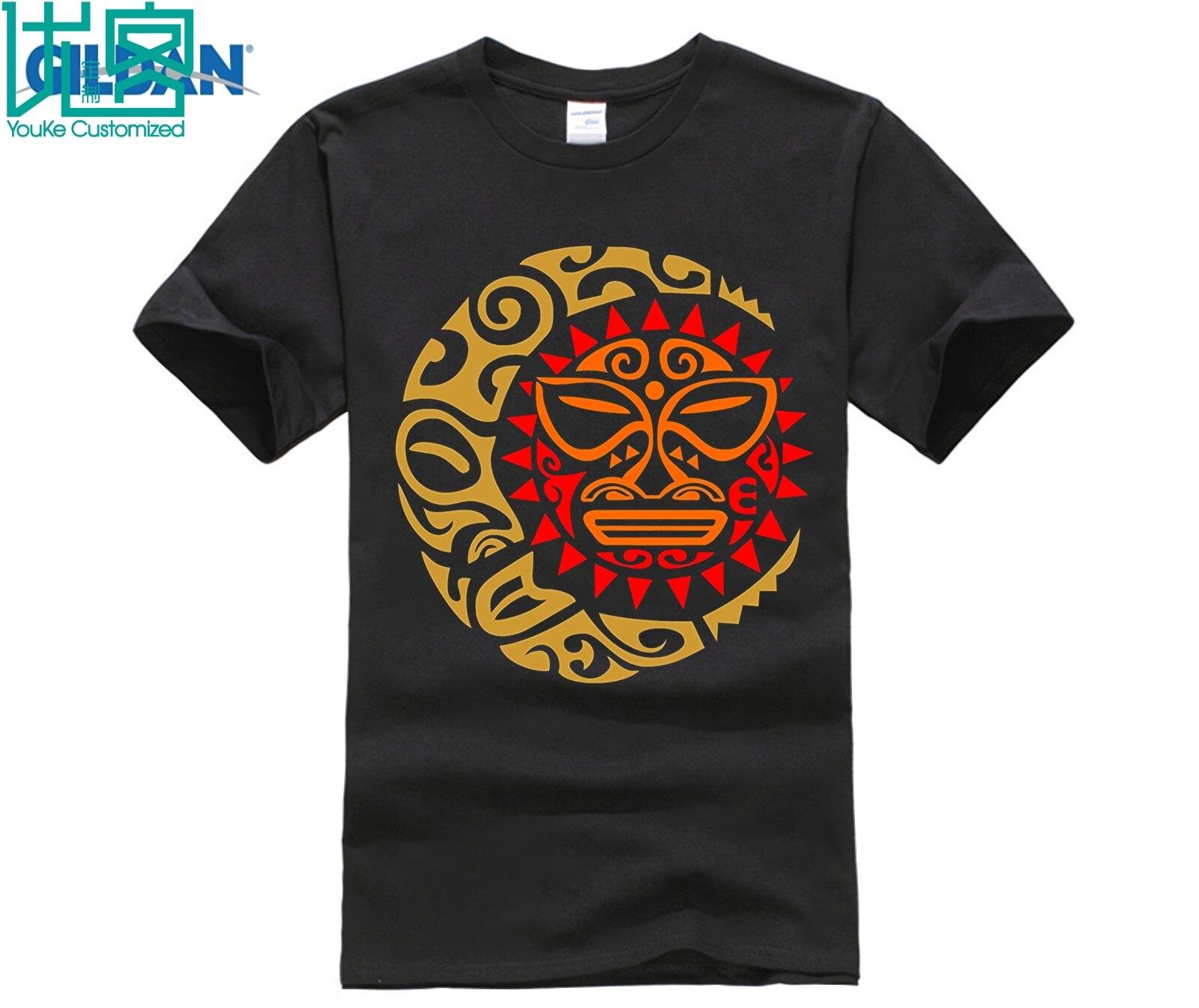 The Maori Sun Moon T Shirt Traditional Art  Animal