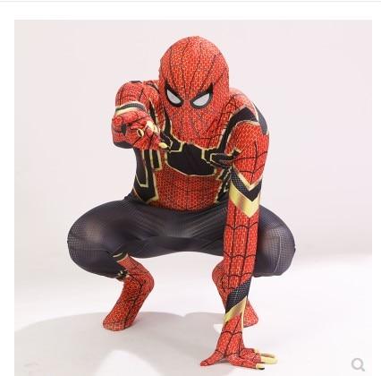 Aven Iron Spidan Costume Spider Man Suit Spidan Halloween Costumes Men Adult Kids Spidan Cosplay Clothing 2