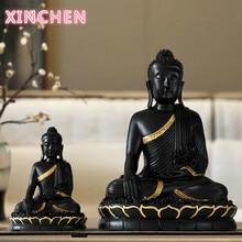 Статуэтка Будды из смолы, Большой Декор Будды, домашний декор, статуэтка Будды, аксессуары для гостиной