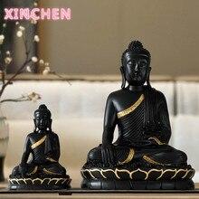 Statue de bouddha en résine, grand bouddha, décoration pour la maison, accessoire de décoration pour le salon