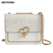 BESTFORM Women Bag 2019 Famous Brand Luxury Handbag Women Chain Designer Female Crossbody Bags Flap Leather Ladies Shoulder Bag