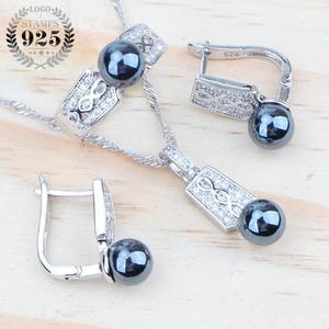 925 Sterling Silver Black Pear