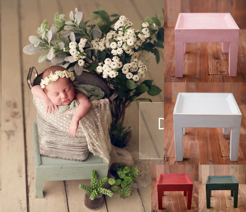 Newborn Photography Props Original Retro Do Old Small Taboret Creative Personality Baby Photo Accessories