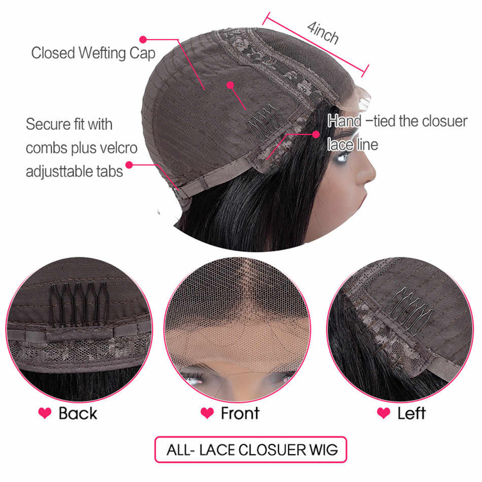 Curly human hair wig Lace Closure Human Hair Wigs For Women Human Hair Lace Wig Brazilian Remy Hair Curly 4x4 Lace Closure Wigs
