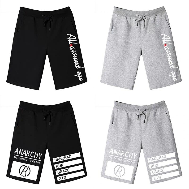 2020 Mens Shorts Casual Elastic Waist Joggers Fitness Clothing Sweatpants Shorts Men Harajuku Printing Plus Size Shorts Homme