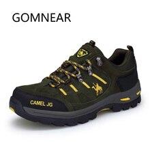 GOMNEAR الرجال النساء الشتاء حذاء للسير مسافات طويلة في الهواء الطلق رياضة حذاء ارتحال الجبلية تنفس أحذية تسلق التخييم الصيد الأحذية