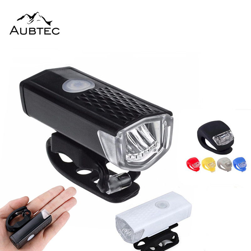 Bike Bicycle Light LED Taillight Rear Tail Safety Warning Cycling Lights USB Rechargeable Or Battery Front Flashlight TSLM2