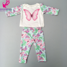 2019 spring doll clothes for 17 inch baby butterfly pants set 18