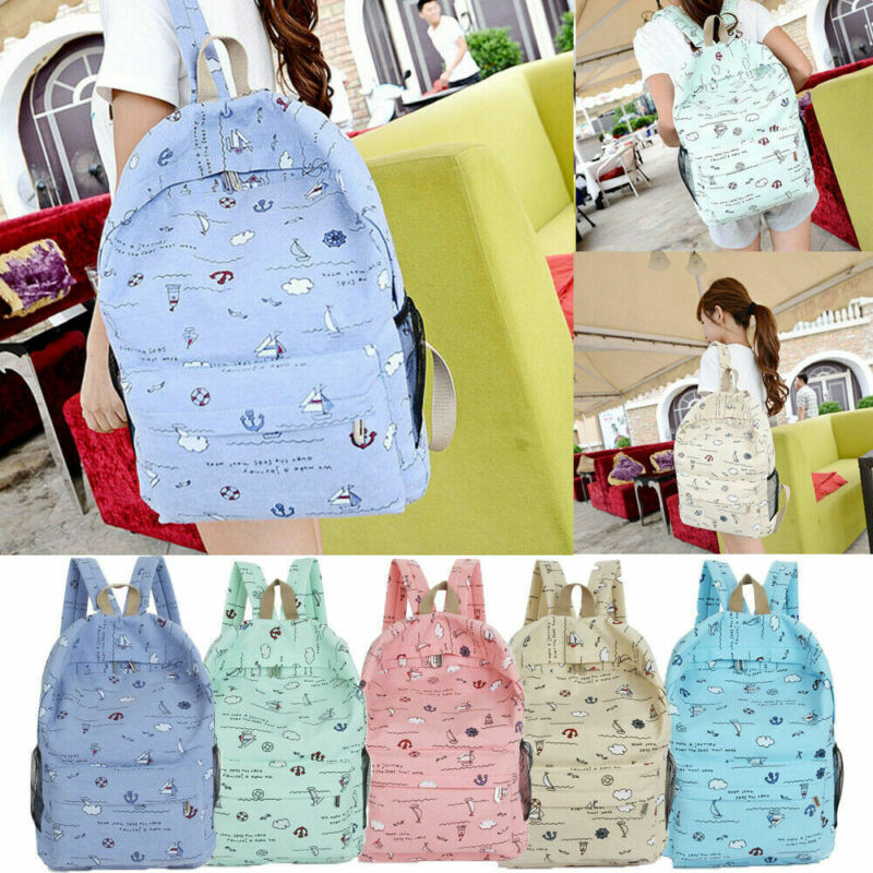 Women Girls Female Backpack Teenage Girl School Bag Rucksack Travel Bookbags Satchel Hot