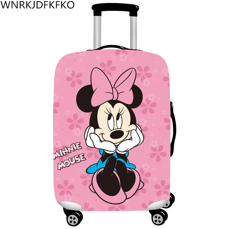 Luggage Protector Cover For Elastic 18-32 Inch Protective Case Suitcase Cover Mickey Minnie Travel Accessories Travel Case Cover