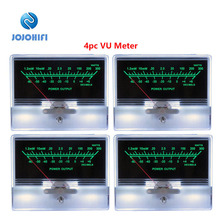 цена на 4pcs TN-90 Pointer VU Meter Head Table Pre-stage Tube Amplifier DB Sound Pressure With Backlight Power Amplifier Board