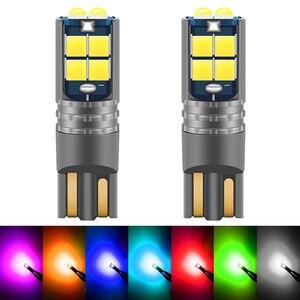 2 шт. T10 w5w Canbus Автомобильная интерьерная Лампа 194 501 светодиодная приборная Подсветка лампа купольная лампа без ошибки 12В DC зазор светло-оран...