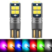 Bombilla LED T10 W5W para coche, luz de lectura para coche, 12V, blanco, ámbar, azul, rojo, verde, morado, 168, 194, 2 uds.