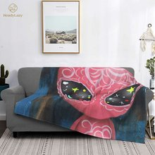 Alien Blanket Soft Fashion Bedspread Fuzzy Fleece Chair Blanket