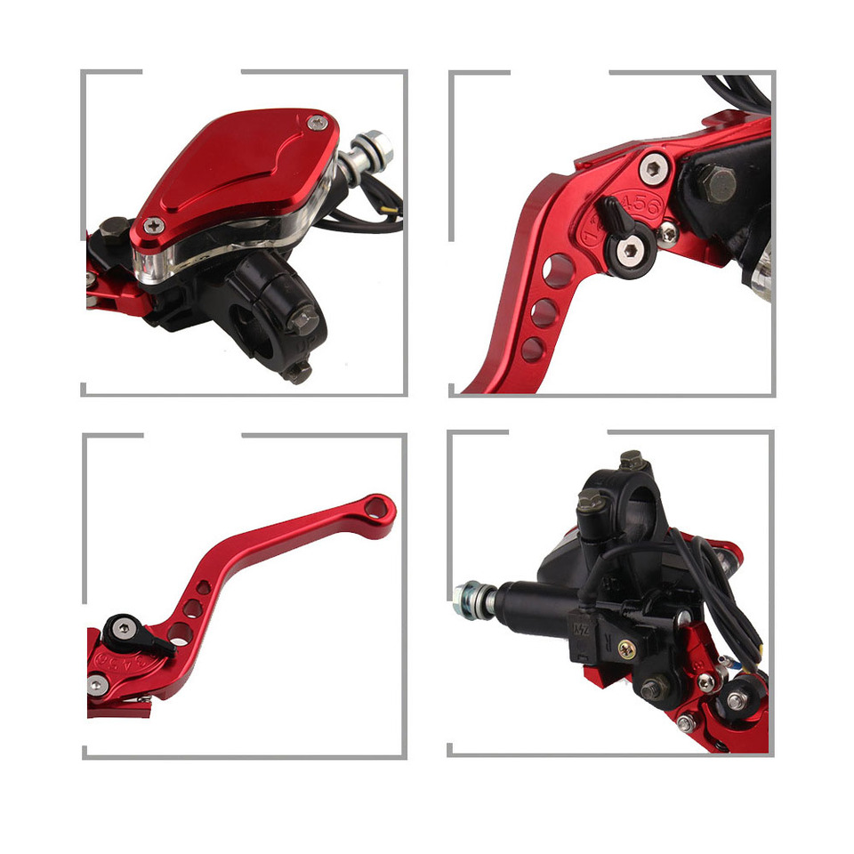 Honda Grom CBR600RR 7//8 22mm Motorcycle Master Cylinder Reservoir Hydraulic Brake /& Cable Clutch Levers for most brands 125cc-300cc Sportbike//Streetbike//Scooter Suzuki GSF600 Bandit 1996-2003