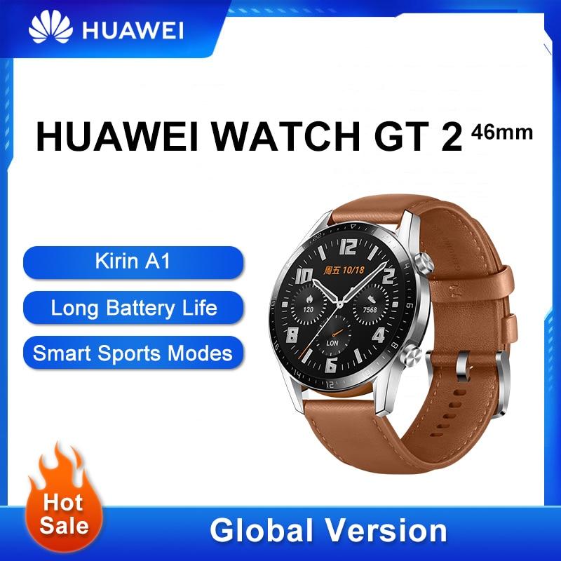 Permalink to Original HUAWEI Watch GT 2 Smart Watch Led Heart Rate Sleep Tracker Waterproof Huawei GT2 Phone Call  GPS Fitness Tracker