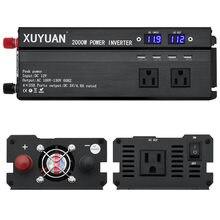 4USB Poort Inverter 2000W Watt DC 12 V/24 V naar AC 110V 60HZ Auto Power inverter Charger Converter Adapter inversor