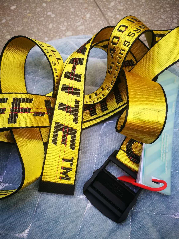 Top Quality Off White Belts Embroidery Canvas Letter 130cm-200cm Long Femal Belt For Men Or Women Luxury Designer Brand Belts