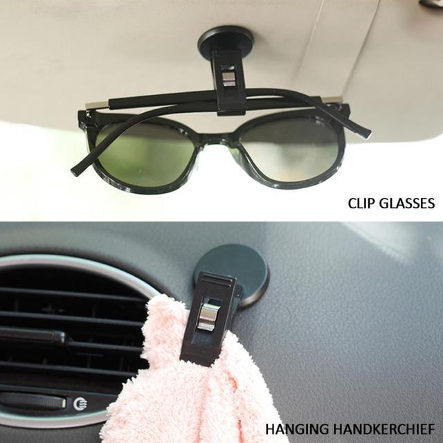 2020 otomobil araç güneşlik klip oto raptiye klip güneş gözlüğü gözlük bilet kartı oto iç aksesuarları Dropshipping