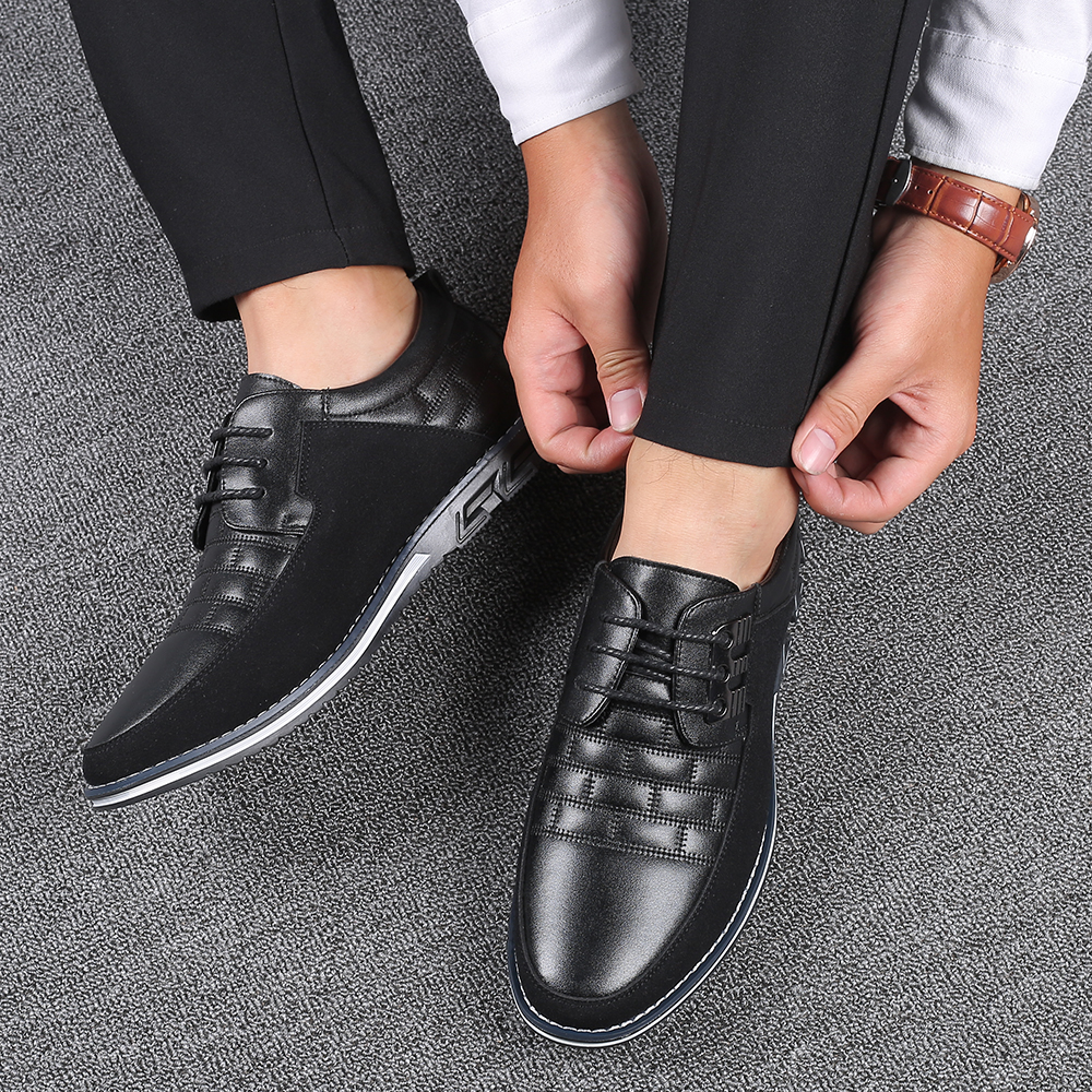 H8e4d67cdc0ce407ca36dad827e8b6e71q 2019 New Big Size 38-48 Oxfords Leather Men Shoes Fashion Casual Slip On Formal Business Wedding Dress Shoes Men Drop Shipping