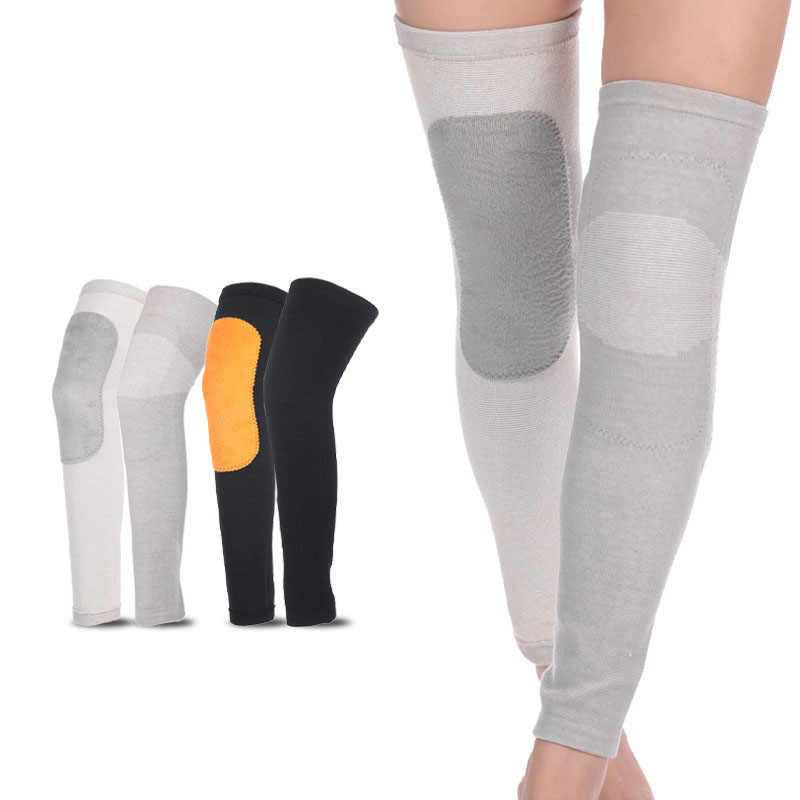 Winter Knee Support Protector Leg Arthritis Injury Gym Sleeve Elasticated Bandage Knee Pad Thick Nylon Kneepads Warm