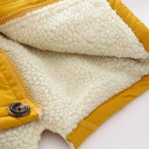 Image 5 - OLEKID 2020 סתיו חורף מעיל ילדה בתוספת קטיפה ברדס תינוק צמר מעיל 3 10 שנים ילד ילד הלבשה עליונה מעיל ילדי Parka