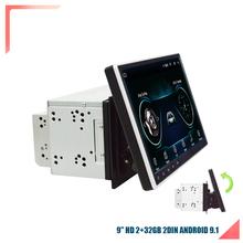 Uniwersalny 2DIN 9 #8222 Android 9 1 obrotowy ekran dotykowy czterordzeniowy RAM 2GB ROM + 32GB GPS Wifi lustro Link tanie tanio FY-UU 1024*600 Bluetooth Mp3 mp4 Nadajnik fm Telefon komórkowy Tuner radiowy Ładowarka