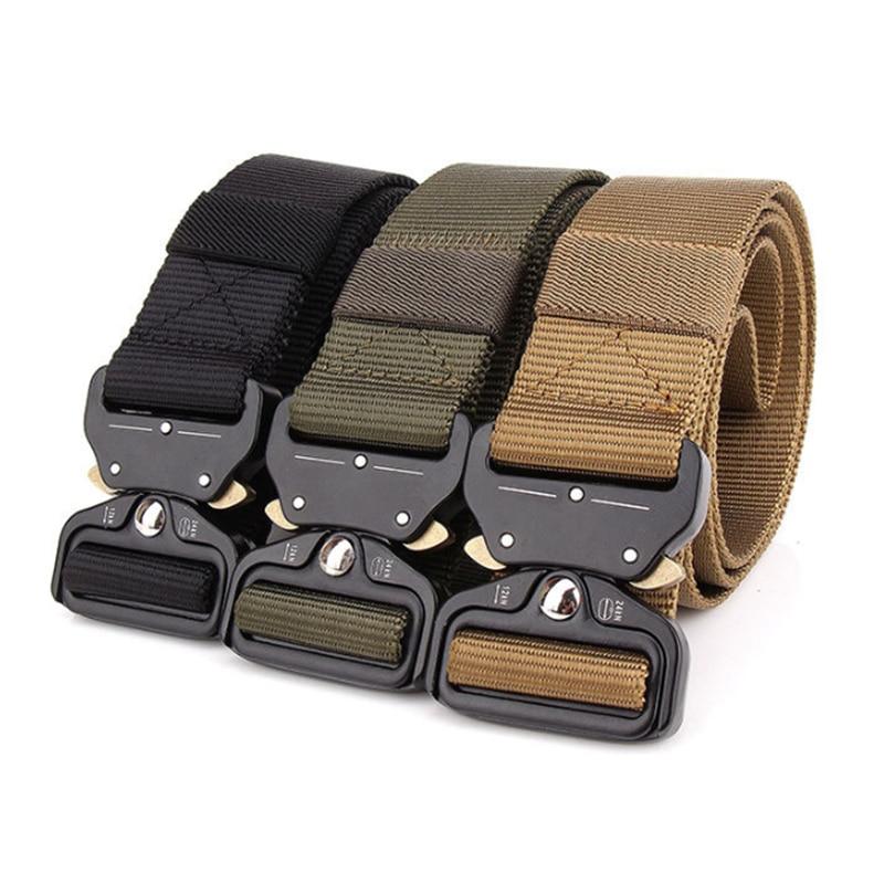 New Outdoor Tactical Rigger Belt Quick Release Military Men's Belt Nylon Adjustable Heavy Duty Multi-functional Hanging Buckle