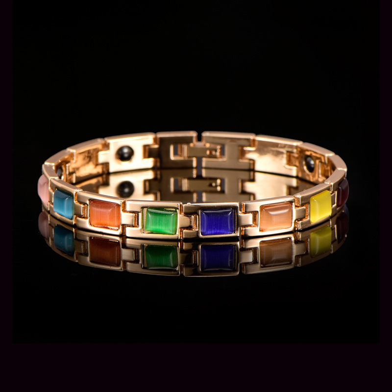 manufacturers selling opal stone crafts accessories womens care bracelet magnetic therapy in Europe and the zinc alloy