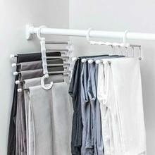 5 в 1 многофункциональная стойка для хранения брюк, Регулируемая Вешалка для хранения брюк, шкаф с полками, органайзер, вешалка для одежды из нержавеющей стали