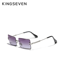 KINGSEVEN Gradient Rectangle Lens Sunglasses Women's Rimless Square Sun Glasses For Women 2020 Young Style Female Shades N810