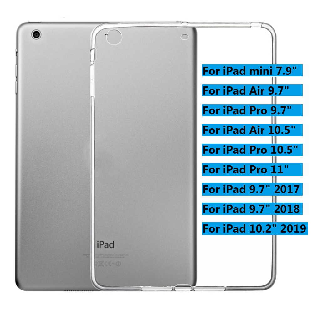 """Nowy miękki pokrowiec na tableta TPU przezroczysty pokrowiec na IPad Mini/Air/Pro 9.7 """"10.2"""" 10.5 """"2019 TPU zwykłe kryształki silikonowe Protect"""