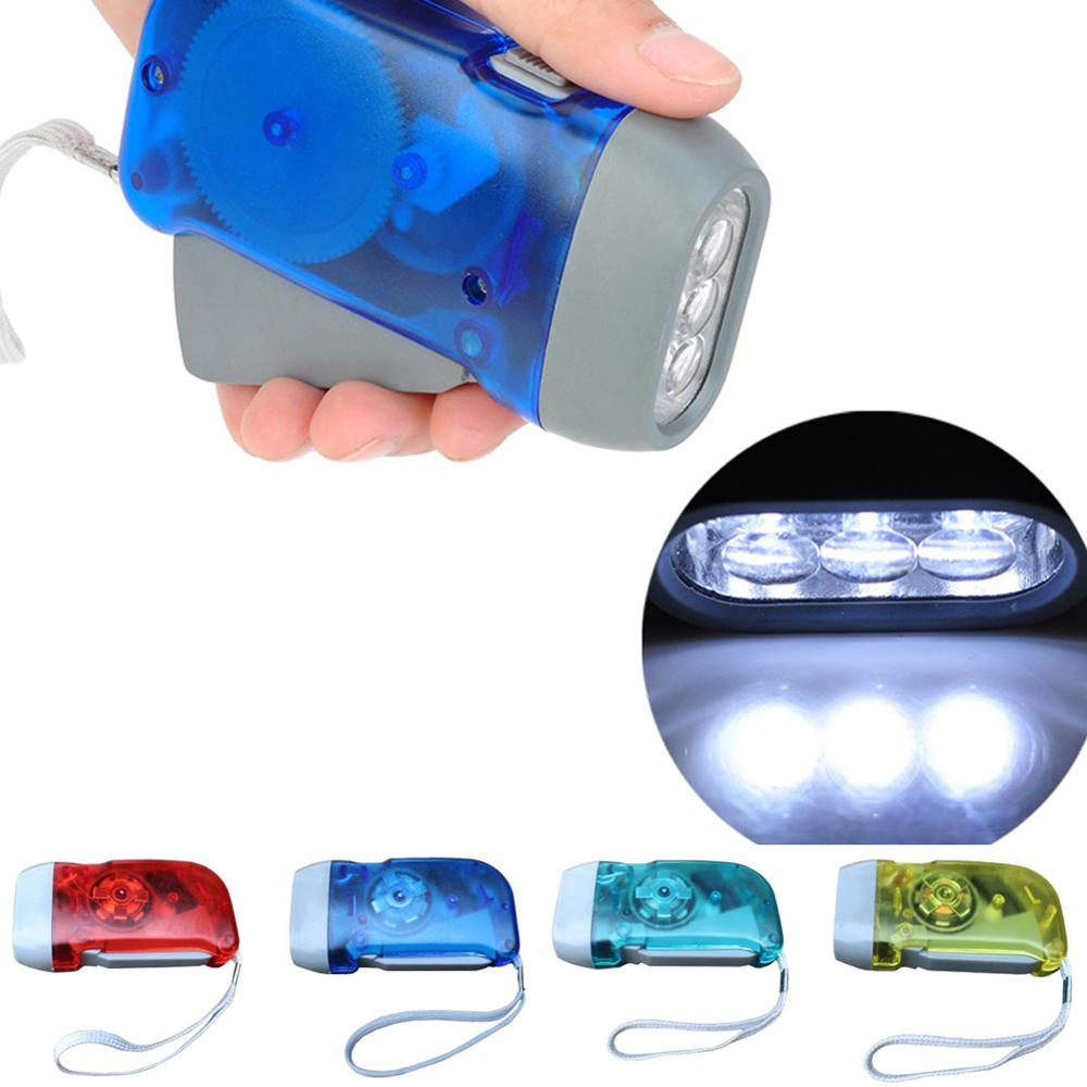 New 3 LED Hand Crank Traveling Hand Flashlight LED Lighting Mountaineering Camping Light