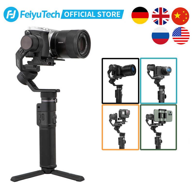Feiyu Tech Feiyu G6 Max 3-Axis Handheld Kamera Gimbal Stabilizer untuk Kamera Saku Kamera GOPRO HERO 7 6 5 Smartphone