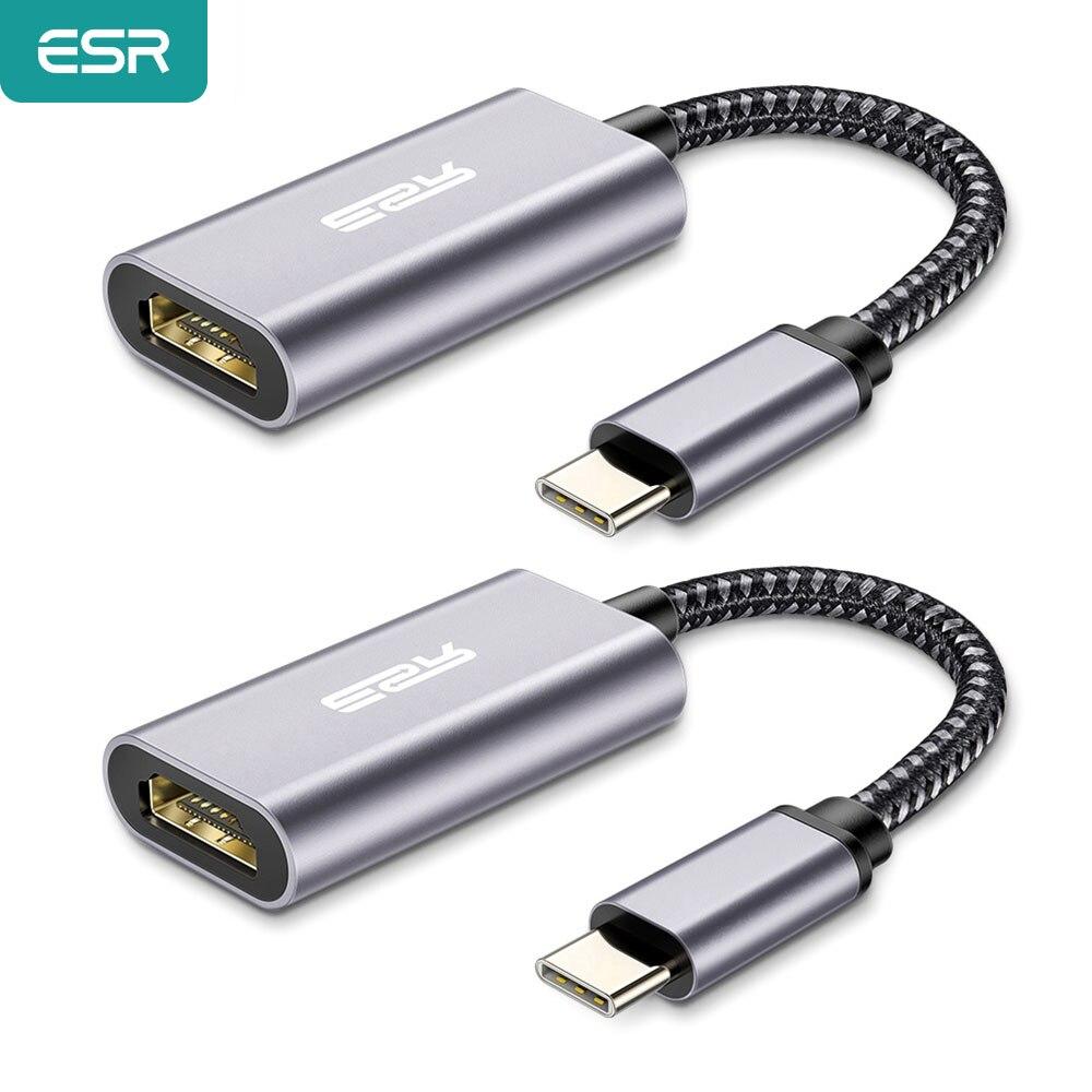 ESR USB di Tipo C a HDMI Adattatore USB 3.1 USB C a HDMI Adattatore del Convertitore per MacBook Air Pro/Huawei matebook/Samsung S10 S9 Tablet Cavi HDMI    - AliExpress
