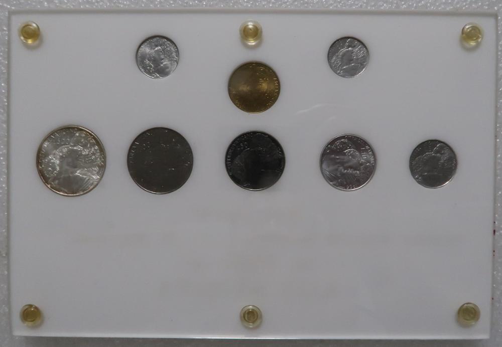 8 ピース/ロットバチカンユーロ硬貨オリジナルコインハードカバーの本のギフトプレゼント 1966 年 (うち 500 リラ銀貨)  グループ上の ホーム&ガーデン からの 非通貨コイン の中 1