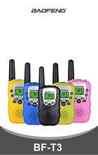 Baofeng BF T3 Walkie Talkie Kids 2pcs Comunicador distanza radio per bambini 100-800M walkie-talkie regalo di natale di complean