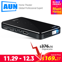 AUN MINI Projector X2, Android 7.1 (Optional 2G+16G, Voice Control Version) WIFI for 1080P Home Cinema, Portable 3D Video Beamer