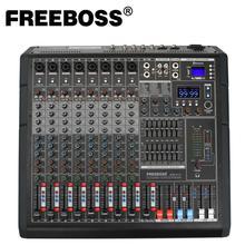 Freeboss ADM TF10 ULTRA Slimเครื่องผสมเสียงคอนโซลผสมUSBบันทึกคาราโอเกะDual 99 DSP Effect Phantom 10 เสียงผสม
