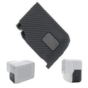 Image 3 - עבור GoPro Hero 5 6 7 שחור החלפת צד דלת USB C מיקרו HDMI יציאות מגן כובע לgopro Hero6/5 HERO7 מצלמה צד כיסוי