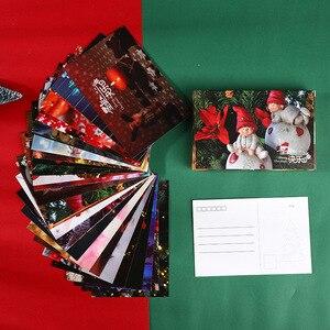 Image 5 - 120pcs החג שמח גלויות סנטה חג המולד מציג Creative מכתבים כתיבת ברכה מתנות גלויות חדש שנה כרטיס